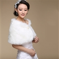 Funky Bridal Pearl Rabbit Wool Scarf Shawls Women Winter Warm Solid Panties 100*30CM - White