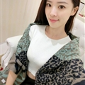 Funky Zebra Print Scarves Wrap Women Winter Warm Cashmere 200*63CM - Green