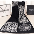 Nice Zebra Print Scarves Wrap Women Winter Warm Cashmere 190*60CM - Black