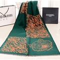 Nice Zebra Print Scarves Wrap Women Winter Warm Cashmere 190*60CM - Green
