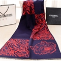 Nice Zebra Print Scarves Wrap Women Winter Warm Cashmere 190*60CM - Navy