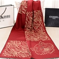 Nice Zebra Print Scarves Wrap Women Winter Warm Cashmere 190*60CM - Orange