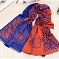 Nice Zebra Print Scarves Wrap Women Winter Warm Cashmere 190*60CM - Royal Blue