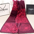 Nice Zebra Print Scarves Wrap Women Winter Warm Cashmere 190*60CM - Wine Red