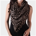 Quality Leopard Print Scarf Shawls Women Winter Warm Wool Panties 185*70CM - Brown