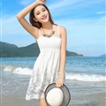 Cute Dresses Summer Girls Affordable Flower Bohemian Coast Chiffon - White