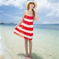 Sweet Dresses Summer Girls Affordable Fringe Bohemian Coast Chiffon - Red