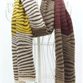 Cheap Zebra Print Scarves Wrap Women Winter Warm Cashmere 200*45CM - Brown Beige