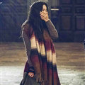 Classic Fringe Fringed Scarves Wrap Women Winter Warm Cashmere Panties 180*70CM - Brown