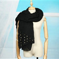 Classic Skull Scarf Scarves For Women Winter Warm Cotton Panties 160*160CM - Black
