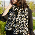 Cool Skull Women Scarf Shawls Winter Warm Polyester Scarves 170*70CM - Yellow