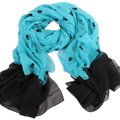 Exquisite Skull Women Scarf Shawls Winter Warm Polyester Scarves 180*140CM - Blue