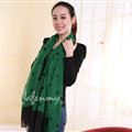 Exquisite Skull Women Scarf Shawls Winter Warm Polyester Scarves 180*140CM - Green