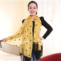Exquisite Skull Women Scarf Shawls Winter Warm Polyester Scarves 180*140CM - Yellow
