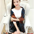 Funky Zebra Print Scarves Wrap Women Winter Warm Cashmere 200*63CM - Blue