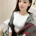 Funky Zebra Print Scarves Wrap Women Winter Warm Cashmere 200*63CM - Grey