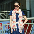 Lovely Skull Women Scarf Shawls Winter Warm Polyester Scarves 170*90CM - Red