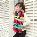 Nice Fringe Skull Scarf Shawls Women Winter Warm Wool Panties 190*32CM - Black