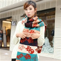 Nice Fringe Skull Scarf Shawls Women Winter Warm Wool Panties 190*32CM - Orange
