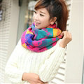 Nice Fringe Skull Scarf Shawls Women Winter Warm Wool Panties 190*32CM - Rose