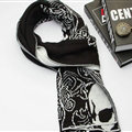 Nice Skull Scarf Shawls Women Winter Warm Wool Panties 195*40CM - Black