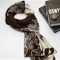 Nice Skull Scarf Shawls Women Winter Warm Wool Panties 195*40CM - Brown