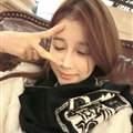 Nice Zebra Print Scarves Wrap Women Winter Warm Cashmere 195*60CM - Black