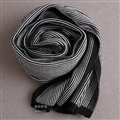 Popular Fringe Scarves Wraps Women Winter Warm Wool Panties 195*30CM - Black