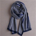 Popular Fringe Scarves Wraps Women Winter Warm Wool Panties 195*30CM - Blue