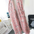 Popular Skull Scarf Scarves For Women Winter Warm Cotton Panties 180*70CM - Pink