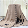 Popular Skull Scarf Shawls Women Winter Warm Wool Panties 180*70CM - Kahki