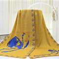Popular Skull Scarf Shawls Women Winter Warm Wool Panties 180*70CM - Yellow