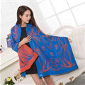 Popular Skull Scarves Wrap Women Winter Warm Cashmere Panties 195*70CM - Blue