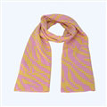 Popular Zebra Print Scarves Wraps Women Winter Warm Wool Panties 218*41CM - Pink