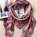 Pretty Cute Skull Scarves Wrap Women Winter Warm Cashmere 140*140CM - Pink
