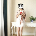 Quality Pretty Skull Scarves Wrap Women Winter Warm Silk 140*140CM - Pink