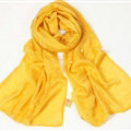Unique Beaded Scarves Wrap Women Winter Warm Possible Yarn Panties 195*63CM - Yellow