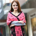 Unique Skull Scarf Shawls Women Winter Warm Wool Panties 180*70CM - Pink