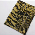 Unique Skull Scarves Wraps Women Winter Warm Wool Panties 200*70CM - Yellow