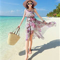 Elegant Dresses Summer Girls Swallowtail Beach Long Chiffon Bohemian - Purple
