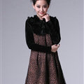 Glamorous Dresses Winter Ladies Leopard Print Velvet Skirts - White