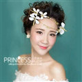 Baroque Bride Headdress Pearl Dragonfly Unique Alloy Hairbands Wedding Accessories - Gold