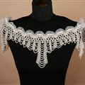Classic Bridal Pearls Beads Tassel Shoulder Chain Wedding Lace Flower Cape Accessories