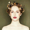 European Bride Retro Baroque Hand Alloy Leaves Hairbands Women Wedding Accessories - Gold