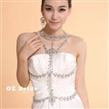 Hot sales Bridal Crystal Necklace Body Chain Alloy Rhinestone Elegant Shoulder Chain Wedding Party Jewelry