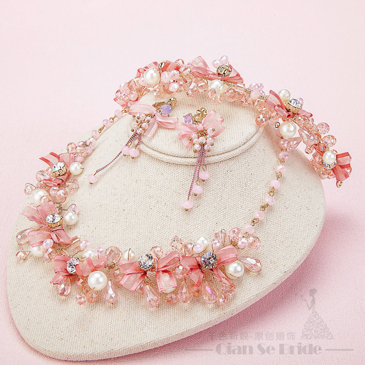 Buy Wholesale Pearl Crystals Beads Yarn Flower Bridal Tiaras