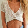 Calssic Bikini Beach Alloy Belly Waist Body Chains Dress Decro Necklace Jewelry - Sliver