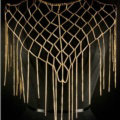 Calssic Tassel Mesh Shawl Shoulder Necklace Showgirl Body Chains Jewelry - Gold