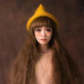 Cute Magic Witch Spire Curling Knitted Wool Hats Women Winter Warm Beanies Caps - Yellow