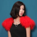 Elegant Real Ostrich Fur Bridal Wedding Shawls Women Winter Warm Wraps Cape - Red